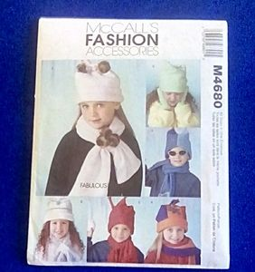 McCall's Children's hats, scarves,.mittens s-m-l